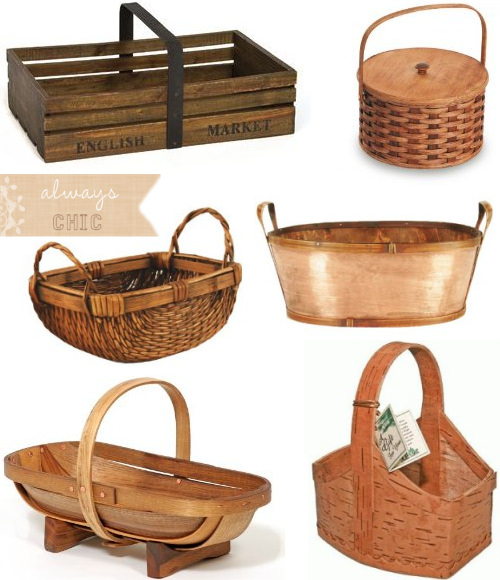 Wood Basket Etc ‡� Bloomize