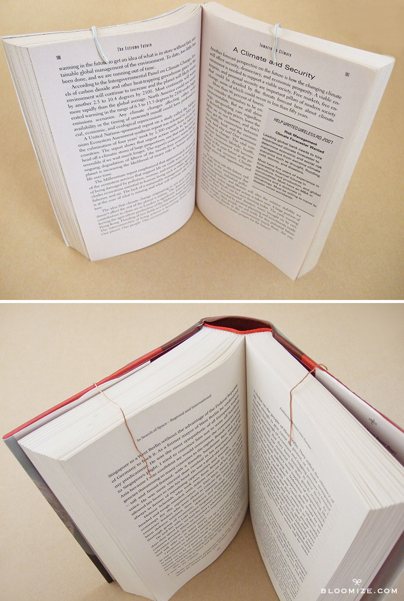 Wire Book Stand   How To Keep A Book Open With A Twistable Wire Bloomize