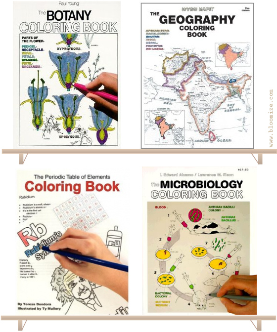 geography colouring book the periodic table of elements colouring book the microbiology colouring book - Geography Coloring Book