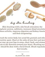 dry skin brushing etc