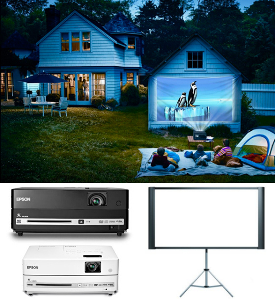 portable projector dvd player epson duet 80 inch projection screen