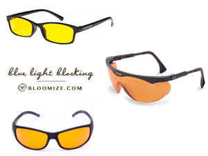 Blue light blocking eyeglasses etc