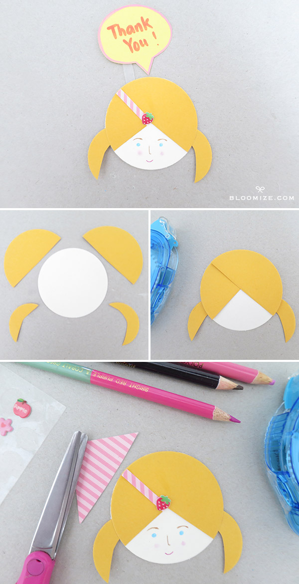 Diy Paper Doll Faces With Circles Upright Speech Bubbles