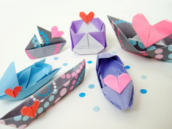 A Fleet Of Origami Love Boats Bloomize