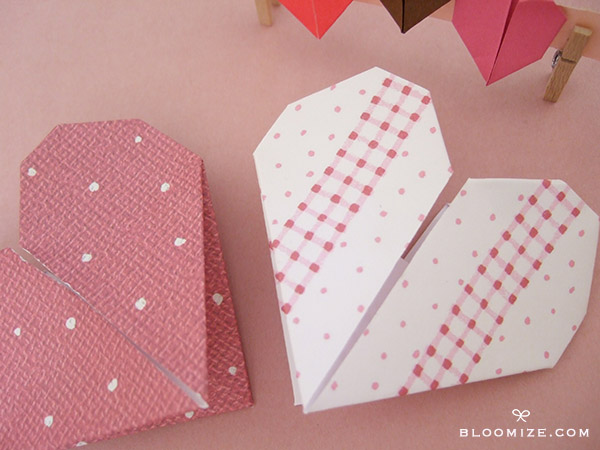 Sweet Origami Hearts Bloomize