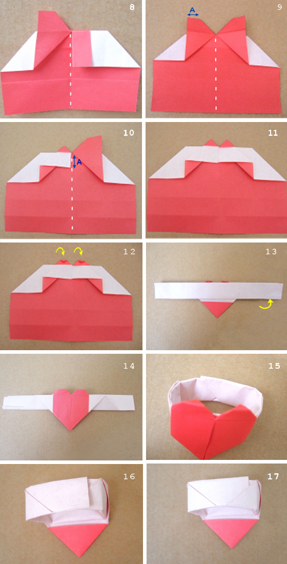 How To Fold A Origami Dollar Heart
