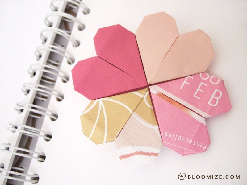 Fold A Heart Page Marker Bloomize