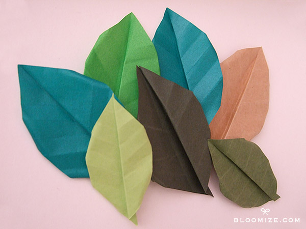 Origami leaf with or without veins bloomize this mightylinksfo