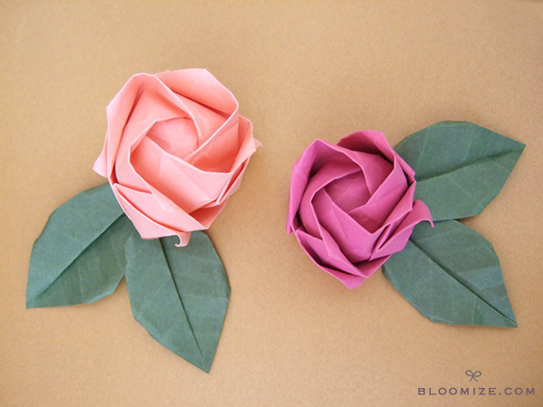 Origami roses ⇆ bloomize