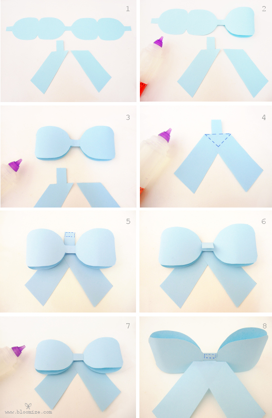 A ribbon bow template bloomize for Template of a bow