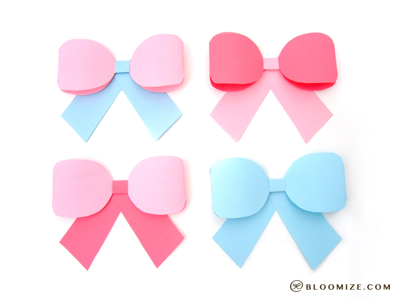 A Ribbon Bow Template  Bloomize