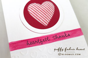 puffy heart card