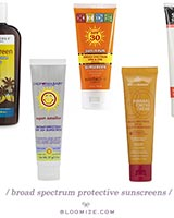 sunscreen etc
