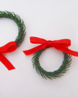 mini conifer wreaths