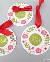 round wreath gift tags