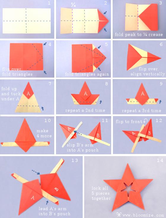 Origami Lucky Stars Easy Folding Tutorial | 736x560